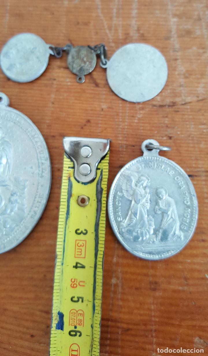 Antigüedades: Lote 14 medallas religiosas antiguas. Diferentes medidas y épocas. TOP!!!! Medallas de colección. - Foto 11 - 104031651
