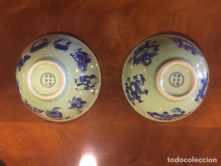 Antigüedades: Pareja de cuencos de porcelana china. - Foto 5 - 104042247