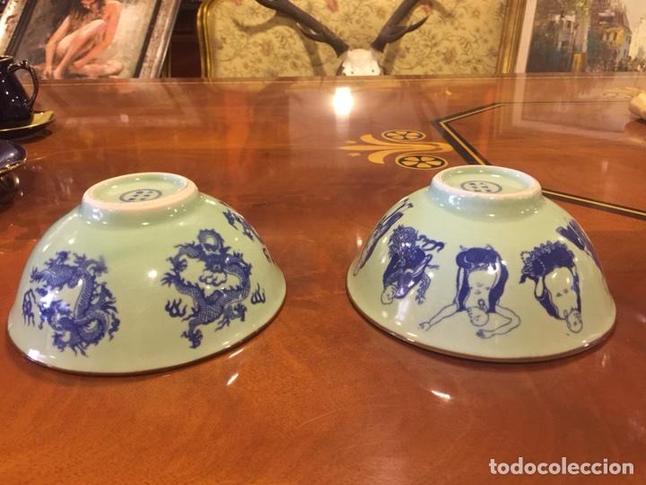 Antigüedades: Pareja de cuencos de porcelana china. - Foto 6 - 104042247