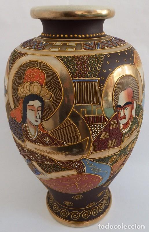 JARRÓN EN CERÁMICA SATSUMA (Antigüedades - Porcelana y Cerámica - Japón)