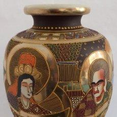 Antigüedades: JARRÓN EN CERÁMICA SATSUMA. Lote 104044227