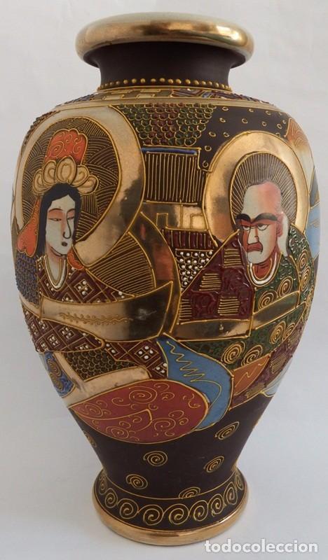 Antigüedades: JARRÓN EN CERÁMICA SATSUMA - Foto 2 - 104044227