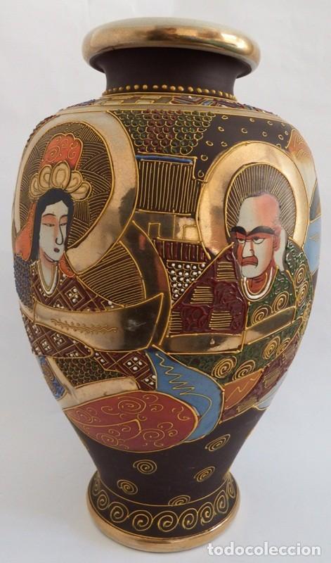 Antigüedades: JARRÓN EN CERÁMICA SATSUMA - Foto 3 - 104044227