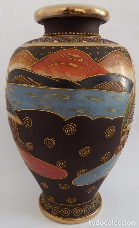 Antigüedades: JARRÓN EN CERÁMICA SATSUMA - Foto 4 - 104044227