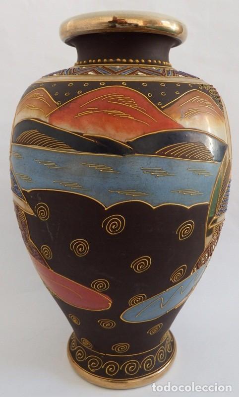 Antigüedades: JARRÓN EN CERÁMICA SATSUMA - Foto 5 - 104044227