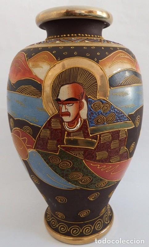 Antigüedades: JARRÓN EN CERÁMICA SATSUMA - Foto 6 - 104044227