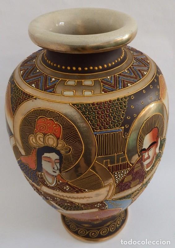 Antigüedades: JARRÓN EN CERÁMICA SATSUMA - Foto 7 - 104044227