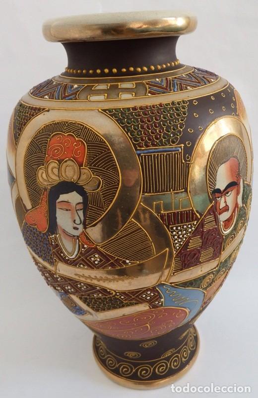 Antigüedades: JARRÓN EN CERÁMICA SATSUMA - Foto 8 - 104044227