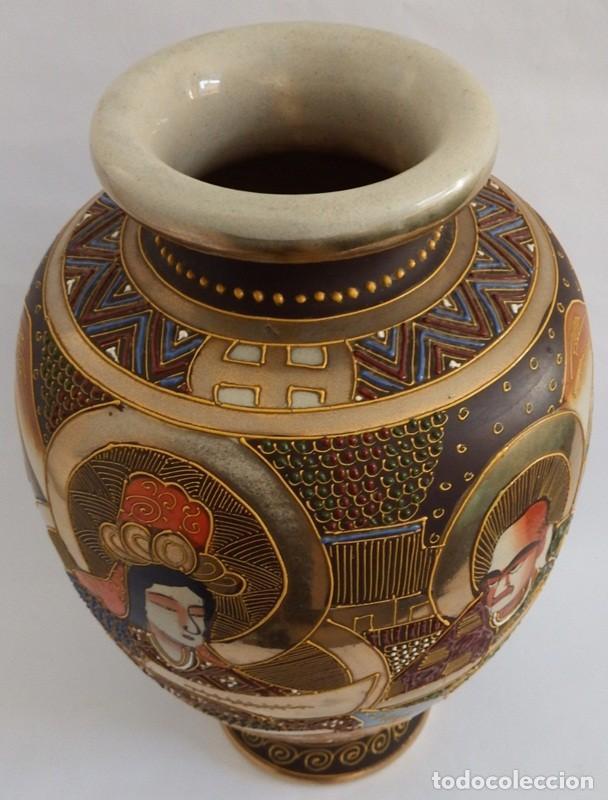 Antigüedades: JARRÓN EN CERÁMICA SATSUMA - Foto 9 - 104044227