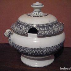 Antigüedades: MAGNIFICA SOPERA ,PORCELANA AUTENTICA DECORADA (COLECCIONISTA ). Lote 104066135