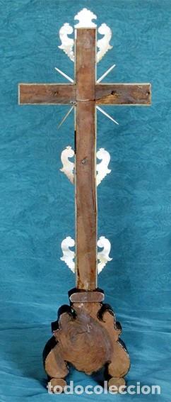 Antigüedades: PRECIOSO CRUCIFIJO ANTIGUO - NÁCAR Y MADERA - STA. MARÍA MAGDALENA - CRUZ RELIGIOSA - CRISTO - Foto 17 - 104080215