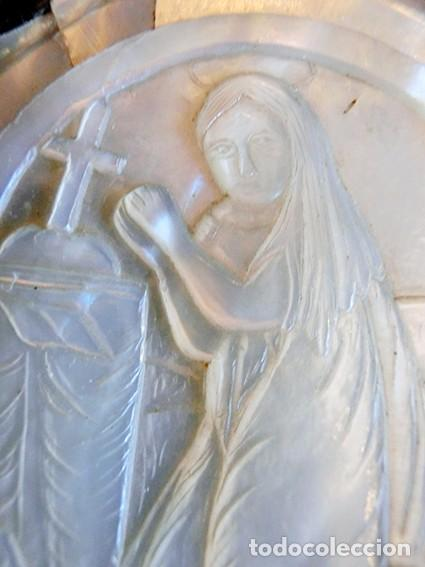Antigüedades: PRECIOSO CRUCIFIJO ANTIGUO - NÁCAR Y MADERA - STA. MARÍA MAGDALENA - CRUZ RELIGIOSA - CRISTO - Foto 19 - 104080215