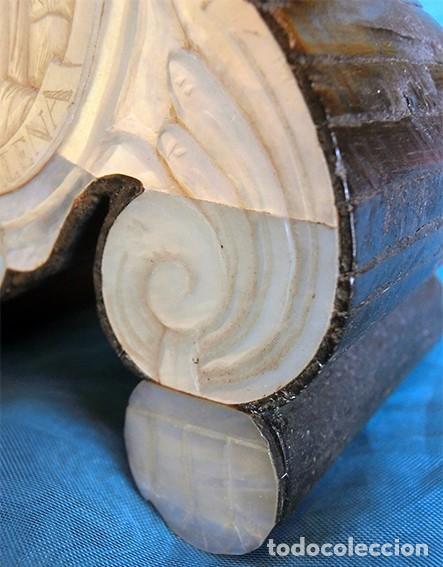 Antigüedades: PRECIOSO CRUCIFIJO ANTIGUO - NÁCAR Y MADERA - STA. MARÍA MAGDALENA - CRUZ RELIGIOSA - CRISTO - Foto 21 - 104080215
