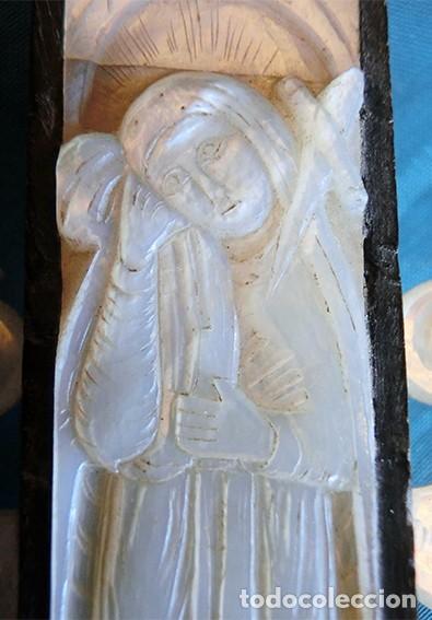 Antigüedades: PRECIOSO CRUCIFIJO ANTIGUO - NÁCAR Y MADERA - STA. MARÍA MAGDALENA - CRUZ RELIGIOSA - CRISTO - Foto 23 - 104080215