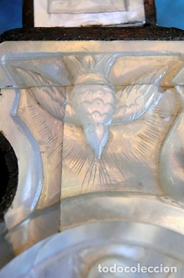 Antigüedades: PRECIOSO CRUCIFIJO ANTIGUO - NÁCAR Y MADERA - STA. MARÍA MAGDALENA - CRUZ RELIGIOSA - CRISTO - Foto 27 - 104080215