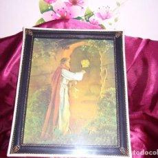 Antigüedades: JESÚS LLAMANDO A LA PUERTA -CUADRO TRIDIMENSIONAL-BODA-CALIDAD-NAVIDAD-PRECIOSO-REGALO-COMUNIÓN. Lote 104082915