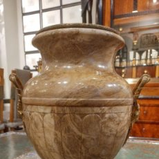 Antigüedades: JARRON EN MARMOL Y BRONCE. Lote 104091491