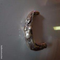 Antigüedades: ANTIGUO MANGO DE PLATA CON FIGURA DE MUJER. Lote 104091891