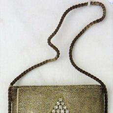 Antigüedades: PRECIOSO BOLSO EN HILO DE PLATA, AÑOS 30 - 40 (MUY BUEN ESTADO). Lote 104093899