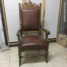 Antigüedades: SILLÓN ANTIGUO NOGAL. Lote 104098675
