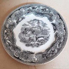 Antigüedades: MUY BONITO PLATO,LA CAZA DEL CIERVO,CERAMICA DE LA AMISTAD,CARTAGENA. Lote 104099483