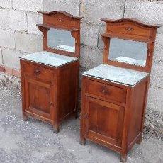 Antigüedades: MESILLAS ANTIGUAS ISABELINAS MESITAS DE DORMITORIO CON ESPEJO ESTILO ISABELINO ALFONSINAS ALFONSINO. Lote 104102087
