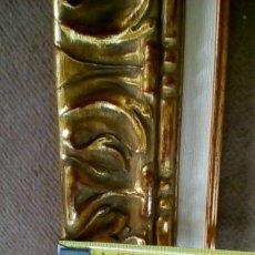 Antigüedades: BONITA MOLDURA DE CALIDAD. NUEVA. PARA LIENZO 46X38. CON COMPLEMENTO INTERIOR.. Lote 104105182