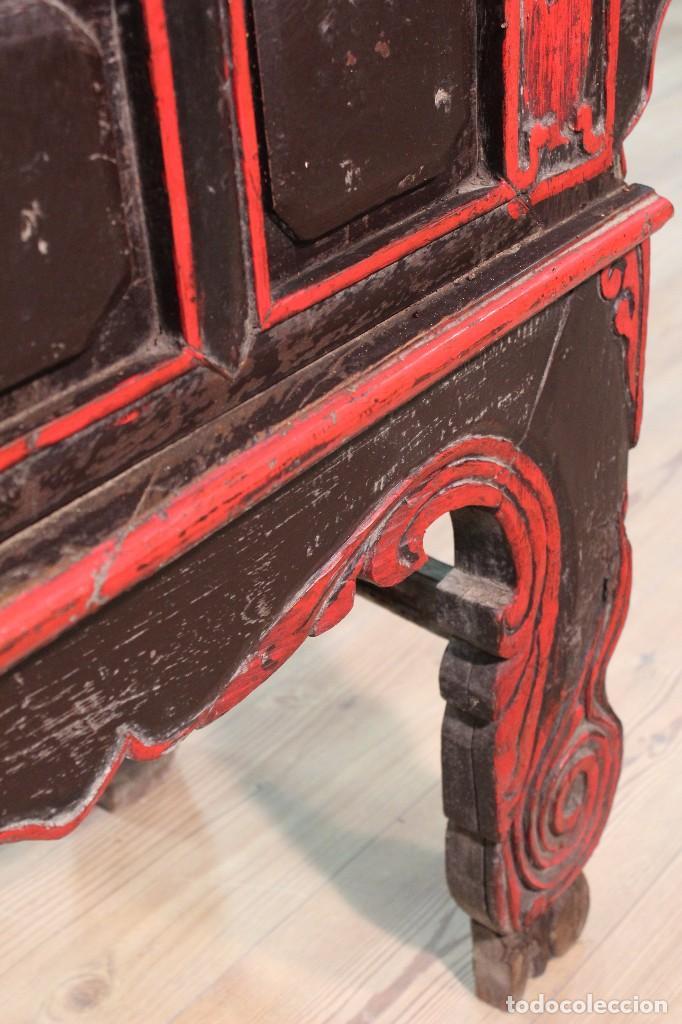 Antigüedades: Antigua consola oriental lacada del siglo XIX - Foto 2 - 104185175