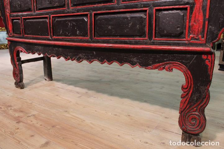 Antigüedades: Antigua consola oriental lacada del siglo XIX - Foto 3 - 104185175