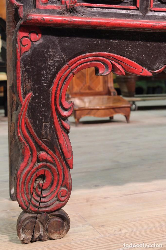 Antigüedades: Antigua consola oriental lacada del siglo XIX - Foto 11 - 104185175