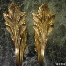 Antigüedades: PAREJA DE ALZAPAÑOS PARA CORTINAS ALZA PAÑOS FRANCESES. Lote 104187315