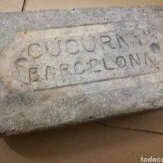 Antigüedades: LADRILLO REFRACTARIO MARCADO ANTIGUA FÁBRICA CUCURNY BARCELONA S.XIX . UNICO TC.. Lote 104206728