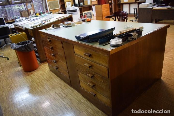MESA MADERA CAJONES GRAN PROFUNDIDAD(1350€) (Antigüedades - Muebles Antiguos - Mesas de Despacho Antiguos)