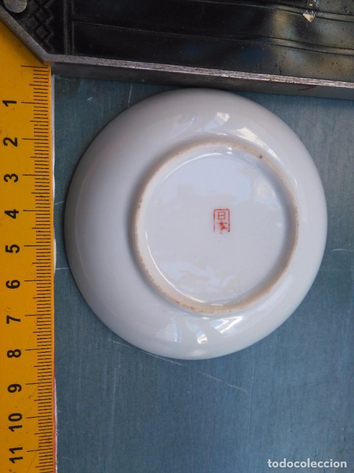 Antigüedades: plato chino . escena oriental con sello - dorado oro - Foto 2 - 104259803