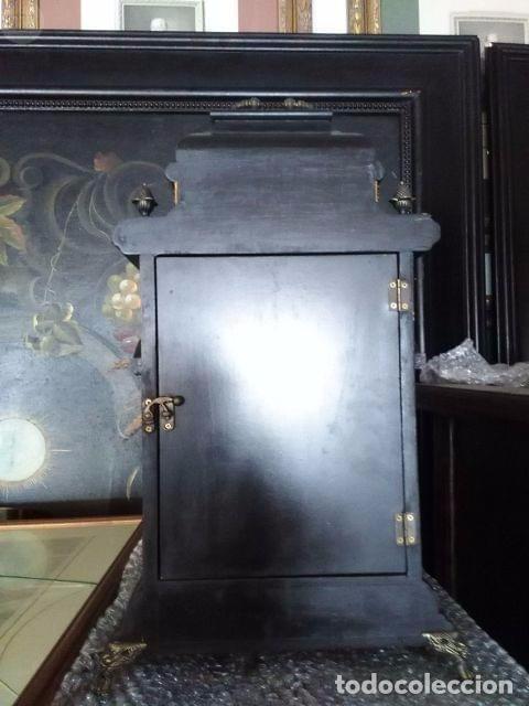 Antigüedades: INTERESANTE RELOJ DE MADERA - Foto 3 - 104272783