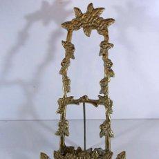 Antigüedades: ANTIGUO Y PRECIOSO ATRIL DE CAPILLA EN BRONCE MACIZO. Lote 104276299