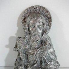 Antigüedades: FIGURA PLANA DE CRISTO CON RELIEVE REALIZADA EN ALUMINIO MACIZO.. Lote 104276699