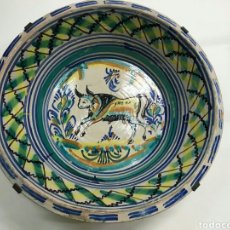 Antigüedades: ANTIGUO LEBRILLO DE TRIANA, SIGLO XIX, PINTADO A MANO. Lote 104277563