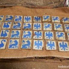 Antigüedades: 22 AZULEJOS ANTIGUOS 4 MODELOS DISTINTOS . Lote 104284847