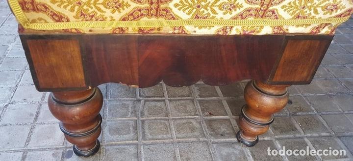 Antigüedades: SOFÁ. MADERA DE CAOBA CON MARQUETERÍA. ESTILO ISABELINO. ESPAÑA. SIGLO XIX. - Foto 9 - 104294675