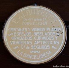 Antigüedades: ANTIGUO ESPEJO FINALES S.XIX- E. Y J. BUXERES . 44 CM.. Lote 104299139
