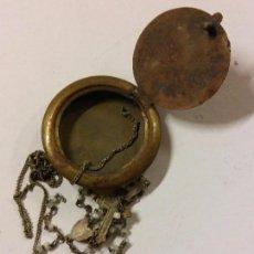 Antigüedades: CURIOSO ROSARIO. CON CAJITA REDONDA PARA SU TRANSPORTE. RARO. Lote 104303403