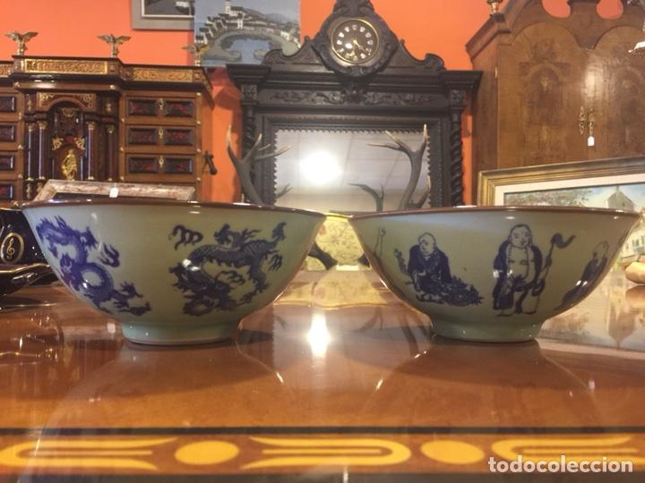 Antigüedades: Pareja de cuencos de porcelana china. - Foto 2 - 104042247