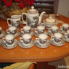 Antigüedades: JUEGO DE CAFE MODELO IMPERIO ATENEA , LA CARTUJA DE SEVILLA . PARA ESTRENAR , NUEVO. Lote 104318339