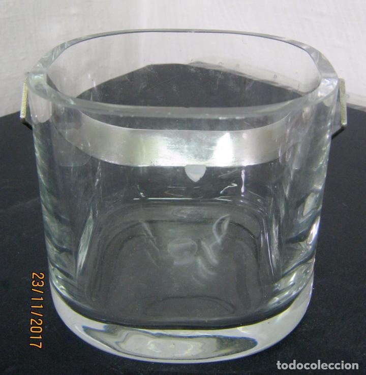 Antigüedades: Espectacular cubitera de cristal sueco marca Orrefors Sweden - Foto 2 - 104320019