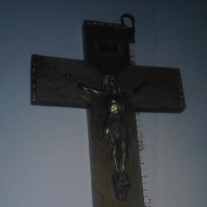 Antigüedades: ANTIGUO CRUCIFIJO ARTESANAL CRISTO DE METAL. Lote 104324951