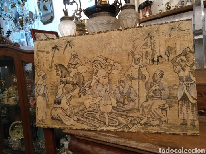 PRECIOSO TAPIZ ANTIGUO (Antigüedades - Hogar y Decoración - Tapices Antiguos)