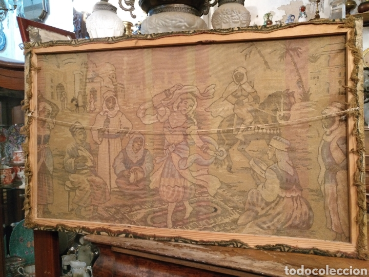 Antigüedades: PRECIOSO TAPIZ ANTIGUO - Foto 7 - 104346506