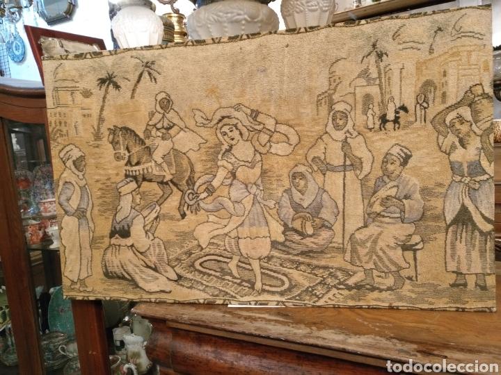 Antigüedades: PRECIOSO TAPIZ ANTIGUO - Foto 9 - 104346506