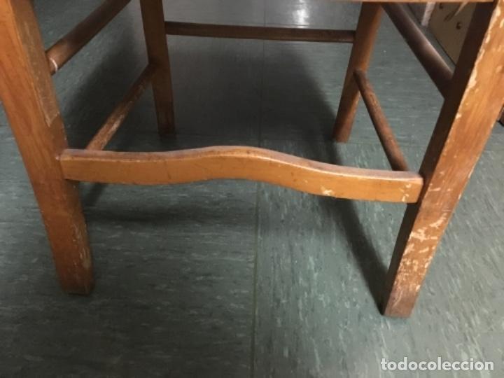 Antigüedades: SILLA DE MADERA Y ENEA - Foto 3 - 104348967